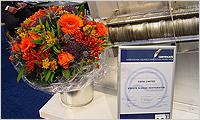 September 2004. Die VOLUTE™ Entwässerungspresse wurde für den Innovationspreis an der Aquatech Amsterdam 2004 nominiert.