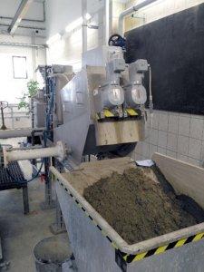 Entwässerung vom Schlamm aus der Chemischen Fällung